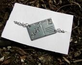 Antiqued SilverI Love You Necklace or Bracelet Pick One