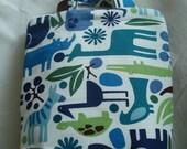SALE  - handmade bag with alexander henry animal fabric
