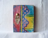 Talavera Heart ---Original Mixed Media Folk Art Painting