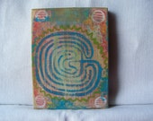 Labyrinth--Mini Folk Art by Hilary Blackwood