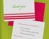 a little NAUGHTY THANK YOU folded note cards