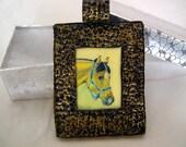 Buckskin horse pendant