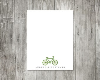 bicycle personalized flat notecard