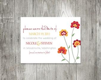 Polka Dot Chrysanthemum Save the Date