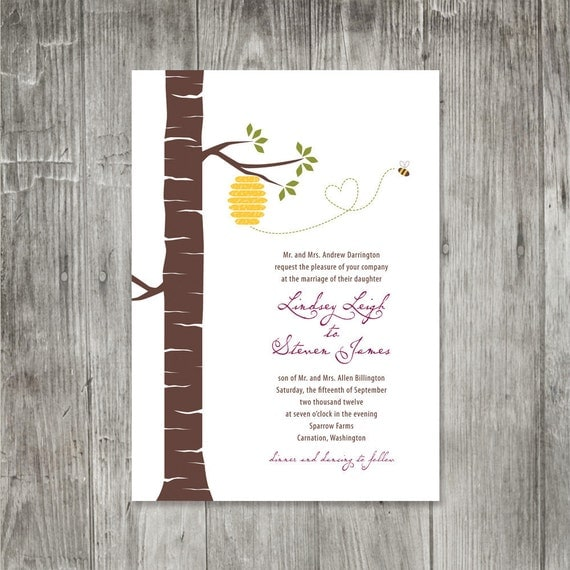 Outdoor Wedding Invitation Wording: Outdoor Wedding Invitation Garden Wedding Casual By