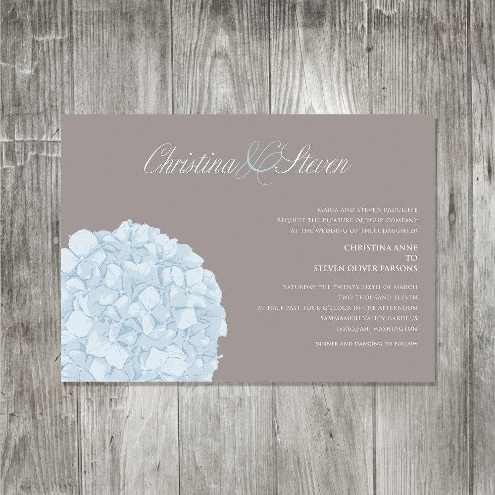 Purple hydrangea wedding invitation sample -  Hydrangea Wedding Invitation Onepaperheart Stationary Il Fullxfull Hydrangea Wedding Invitation
