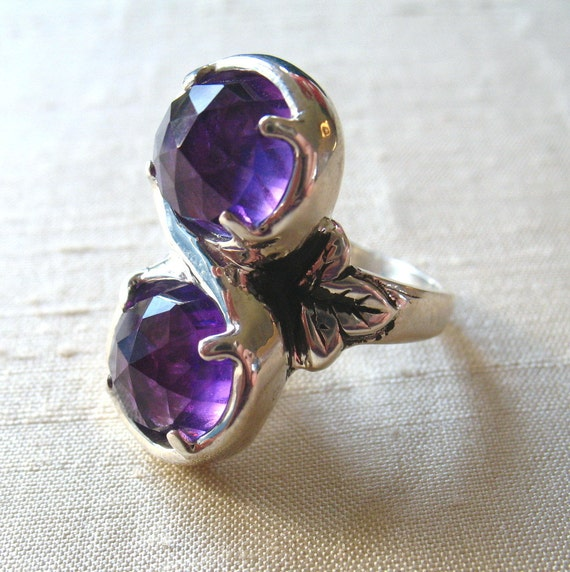 Marchesa Ring- Amethyst and Sterling