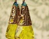 Yellow Gemlets Earrings