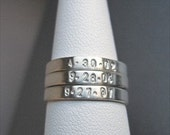One (1) Sterling Silver Stackable Ring - Hand Stamped Ring - Size 7 -Personalized Ring -Sterling Stackable Ring-Silver Thin Ring-Silver Ring