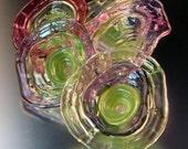 Handmade Glass Spring Wildflowers-Lampwork with Enameled Headpins