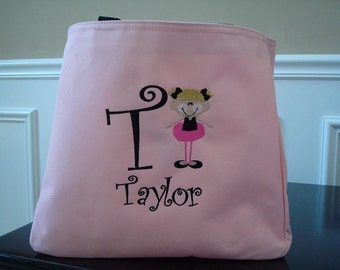 Personalized Ballet Bag Tote Pink Girly Dance Great Christmas gift
