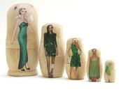 SALE Envy Part II, Set of 5 Nesting Dolls