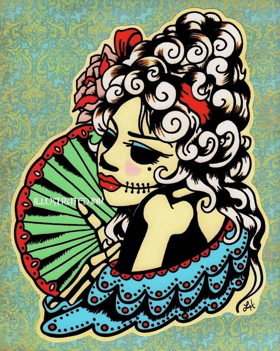 Day of the Dead MARIA ANTONIA Print - Free Shipping