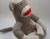 Meditating chakra sock monkey MADE TO ORDER
