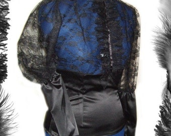 Victorian Satin and Lace Blouse, Gothic, SteamPunk