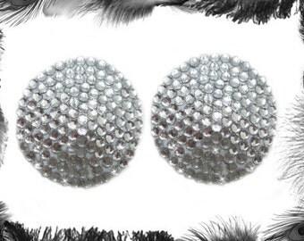 Rhinestone Nipple Pasties, Burlesque Wear, Dita, in 6 colours