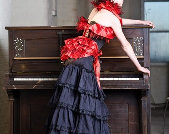 The Countess Satin and Feathers Bustle, many colours available