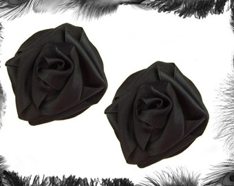 Satin Rose Nipple Pasties, Burlesque Wear, many colours, 3 sizes.