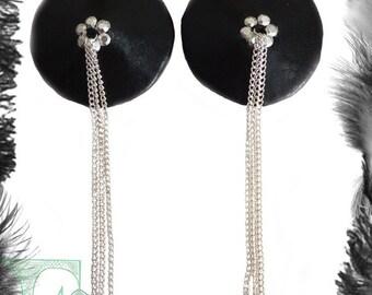 Chains Rhinestone Nipple Tassels, Gothic, Fetish