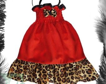 Baby child Leopard Print Rockabilly Summer Dress