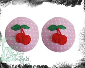 Polka Dot & Cherries Nipple Pasties
