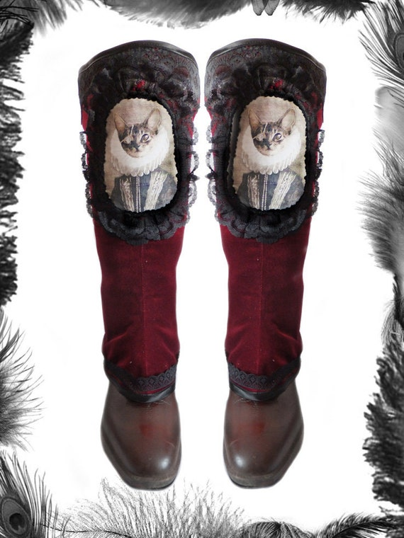 Princessa De Cat Pirate Spats, Boot Covers,victorian, steampunk, many colours