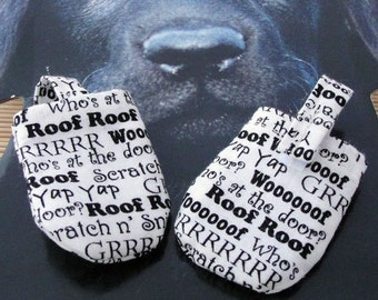 Grrrrrr  HUSH PUPPY Dog Tag Covers