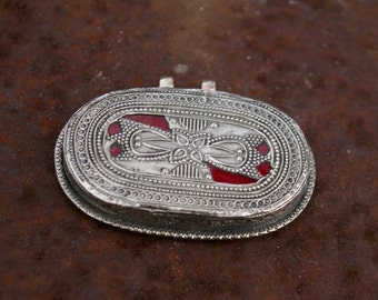 Afghanistan, Vintage Kazakh Sterling Silver Pendant, N32