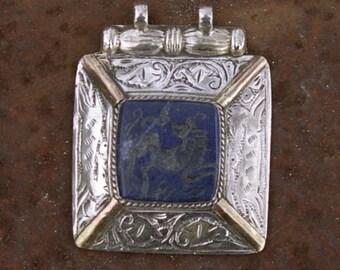 Afghanistan, Vintage Sterling Silver Pendant, Horse N54