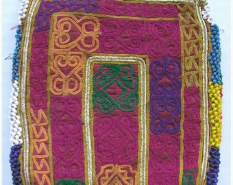 Afghanistan: Vintage Embroidered Zazi Wallet or Pouch, Item 114