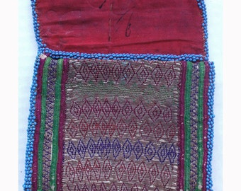 Afghanistan: Vintage Embroidered Pashtun Wallet or Pouch, Item 116
