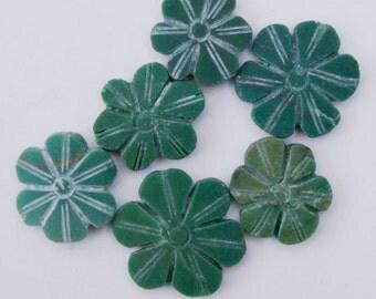 Jade Bead: Hand Carved Flower 1