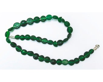 Antique Glass Beads:  Sandcast Green from Ghazni, Afghanistan- Item 6