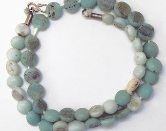 Antique Glass Beads:  Sandcast Sage from Ghazni, Afghanistan- Item 9