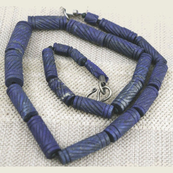Antique Lapis Lazuli Bead Strand from Afghanistan, 2