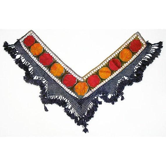 Vintage Turkmen Textile: Ethnic Wallhanging, Saye Gosha 4