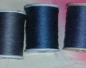 Thread - Hemp - Vintage Kimono -  Steel Blue - Embroider - Embellish - Decorate