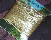 Vintage JapaneseThread - Metallic - Flat - VIntage - Bamboo Gold - Embellish - Embroider - Decorate