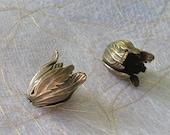 Tulip Bead Caps - Tulip Beads - Antique Brass plated over Brass - 20 x 14mm - 2