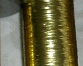 Vintage JapaneseThread - Metallic - Hand Embellish - Couture - Light Gold Shiny Wide