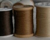 Thread - Hemp  - Vintage Kimono -  Brown - Embroider - Embellish - Decorate