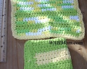 Lime Confetti Crochet Dish Cloth