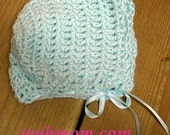 Baby Boy Soft Crochet Bonnet