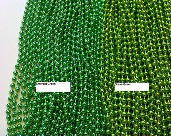 1 grass Green Ball Chain necklace 24 inches 2.4mm