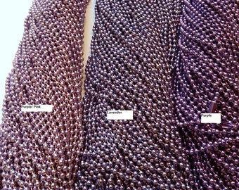 1 Purple Ball Chain necklace 24 inches 2.4mm