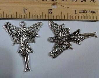 2 Large tibetan silver fairies