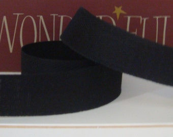 10 Yards Black Cotton Twill Tape for Primitive Rug Hooking