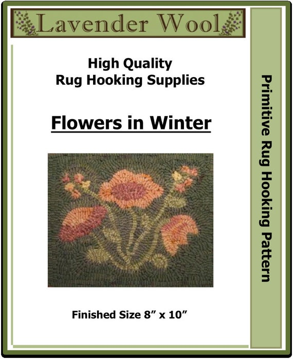 "Flowers in Winter 8 x 10""  Rug Hooking Pattern PDF Download"