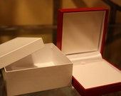 Six Medium Red Leatherette Gift Boxes