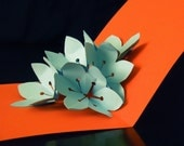 Aqua Sakura Flower Explosion -- Pop Up Card